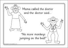 Five Little Monkeys Coloring Pages