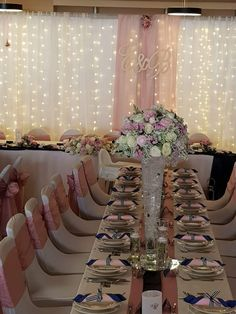 Debut Ideas, Wedding Decorations, Table Decorations, Flower Centerpieces, Big Day, Blush Pink, Birthdays, Table Settings, Merry