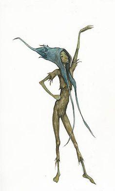 Pixie Presents - Pencil, coloured pencil, watercolour Forest Creatures, Woodland Creatures, Magical Creatures, Fantasy Creatures, Fantasy Drawings, Fantasy Art, Fairy Land, Fairy Tales, Arte Elemental
