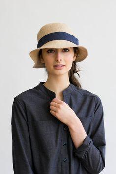 Tsuyumi Jute Mid Brim Ribbon Hat