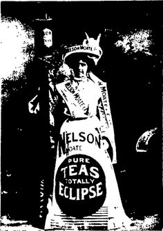 MISS METCALF (Of Pollard's Opera Company). As Nelson Moate, and Co.'s Poster— First Prize. —Berry & Co Otago Witness , 18 March 1903, Page 40 First Prize, New Zealand, Berry, Balls, March, Costumes, Pure Products, Poster, Photography