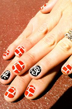 What's black, white and red all over? Serious nail art from Madeline Poole!