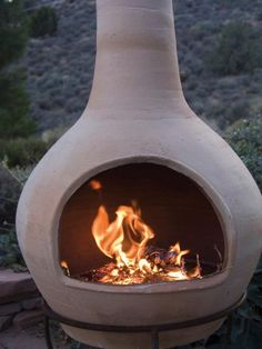 Browse options for a chiminea clay outdoor fireplace, plus browse helpful pictures from HGTV.