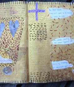 Judy Martin's Journal: stitched paper