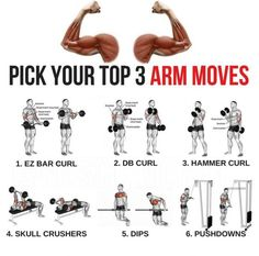 Pick Your Top 3 Arm Moves! Bigger Arms Training Plan
