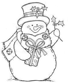 Coloring Sheet -Snowman