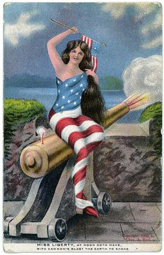 Miss Liberty, At Noon Doth Make, With Cannon's Blast the Earth to Shake. by Charles A.