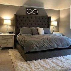 Small Master Bedroom, Farmhouse Master Bedroom, Master Bedroom Design, Master Bedrooms, Bedroom Rustic, Gray Bedroom, Bedroom Bed, Bedroom Designs, Bed Room