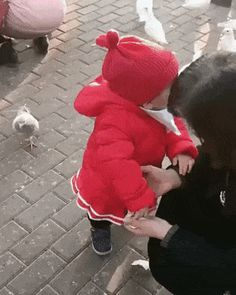 baby and pigeon – GifGifMagazine