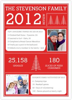 Family Newsletter for Christmas Card   Holiday - Spring, St ...