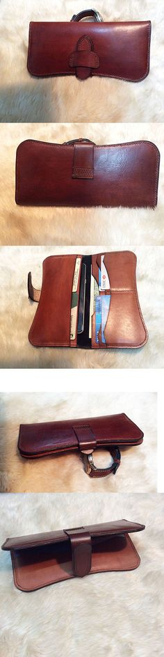Vintage Triba African Drawing Wallet for Women Leather Zipper Phone Coin Purse