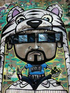 Mr Bad Ass... awesome graffiti Christchurch Nov 2014