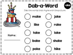 13 Rhyme and Alphabet Learning Activities- perfect to go with Dr. S books!