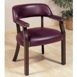 $149.00  Coaster Furniture - Guest Chair In Burgundy Vinyl - 511BNXK