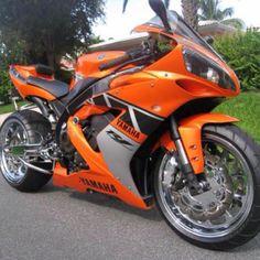 Orange Yamaha Superbike