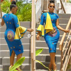 Très Belle Ankara Styles To Rock This Season - AfroCosmopolitan African Dresses For Women, African Print Dresses, African Attire, African Wear, African Women, African Style, African Outfits, African Fashion Ankara, African Inspired Fashion