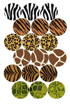 ANIMAL PRINT COLLAGE MIX bottle cap image pack Formatted for printing on 4 x 6 photo paper animals silly animals animal mashups animal printables majestic animals animals and pets funny hilarious animal Jungle Party, Safari Party, Safari Theme, Jungle Theme, Bottle Cap Art, Bottle Cap Crafts, Bottle Cap Images, Diy Bottle, Carta Collage