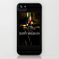 Happy Holidays iPhone & iPod Case by lillianhibiscus - $35.00