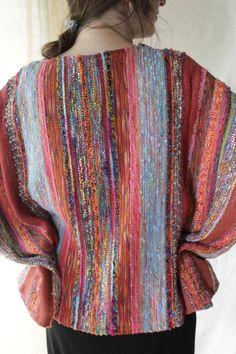 Sueños de otoño chaqueta tejida a mano, tejido de plástico,
