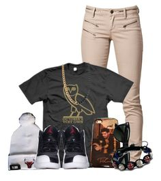 """Take Care."" by lovelycupcake13 ❤ liked on Polyvore featuring SELECTED, Nicki Minaj, Ray-Ban, Shamballa Jewels, Retrò, ASOS, chicagoe bulls, dope, ymcmb and ovoxo"