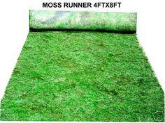4x8 moss runner ceremony decorations