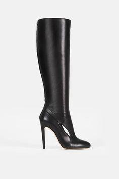 Altuzarra — Cut Out Knee Boot Black — THE LINE