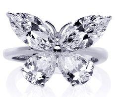 Butterfly Cut Diamond Rings