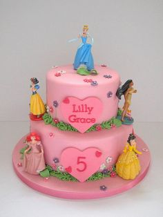Disney princess cake - For all your Princess cake decorating supplies, please visit http://www.craftcompany.co.uk/occasions/party-themes/princess-party.html