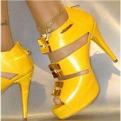 3490bd66c28 Terrific Hand Made Yellow Platform Sandals Gold Sandals
