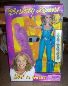 2000 Britney Spears Play Along Live in Concert Doll - QueensOfCookware