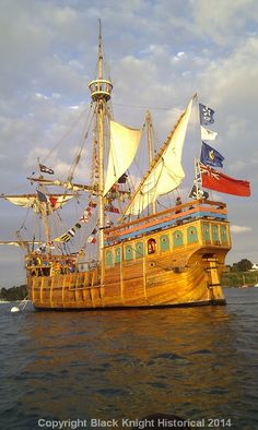 The Matthew of Bristol. Replica of the ship that sailed John Cabot to Newfoundland