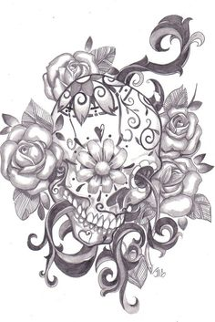 I like the design behind the sugar skull, I'd do a different sugar skull with it