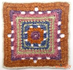 Moogly CAL Afghan Block Rising Sun Square by Amy Ramnarine of The Stitchin' Mommy - free crochet pattern. Crochet Square Patterns, Crochet Blocks, Crochet Squares, Crochet Motif, Crochet Crafts, Crochet Yarn, Yarn Crafts, Crochet Projects, Free Crochet