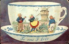 To One I Love - Dutch Tea Cup Card