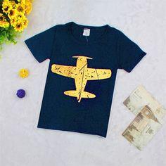 Navy Airplane Tshirt