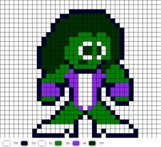 She-Hulk Perler Bead Pattern