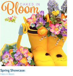 Spring Showcase: Cakes in Bloom Cake Hacks, Ice Cake, Garden Cakes, Fondant, Snack Recipes, Projects To Try, Bloom, Spring, Party