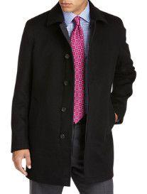 Sanyo® Reversible Rainwool/Polyester Coat