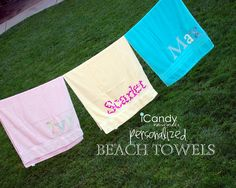 umm.. cute!!    icandy handmade: (iCandy) Beach Towels (my fav's)