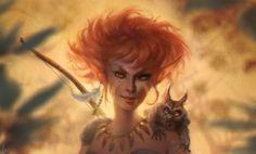ArtStation - Sariel, the wood elf, Caroline Gariba