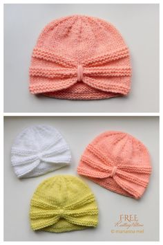 Knitted Headband Free Pattern, Baby Cardigan Knitting Pattern Free, Baby Hats Knitting, Free Knitting, Knitted Hats, Free Baby Knitting Patterns, Charity Knitting, Crochet Hats, Knitted Dolls