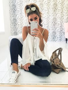 40 Trendy Spring Outfits To Try - Trendfashioner Style Casual, Casual Outfits, Cute Outfits, Casual Ootd, Spring Summer Fashion, Spring Outfits, Mein Style, Mode Boho, Estilo Boho