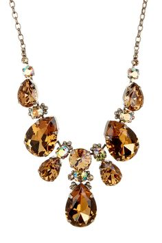 Crystal Pear Bib Necklace by Sorrelli on @nordstrom_rack