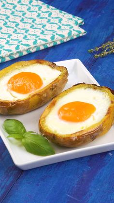 Stuffed potato with egg.