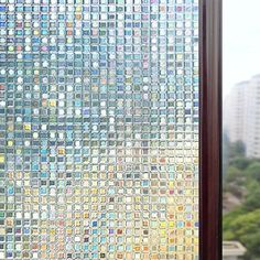Rabbitgoo 3D Window Films Privacy Film Static Decorative Film Non-Adhesive Heat | eBay
