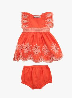 Stella McCartney Kids Foxglove Baby Girl Eyelet Dress - Hello Alyss - Designer Children's Fashion Boutique