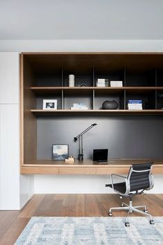 Kew townhouse by Coy Yiontis - Office Desk - Ideas of Office Desk - Modern Apartment Study Space Home Office Space, Home Office Furniture, Home Office Decor, Home Decor, Office Ideas, Furniture Stores, Cheap Furniture, Apartment Office, Bedroom Furniture