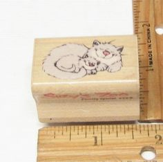 PURRRTY SPECIAL KITTY CATS CURLED UP SLEEPING BY SUZY'S ZOO RUBBER STAMP #SUZYSZOO #rubberstamp