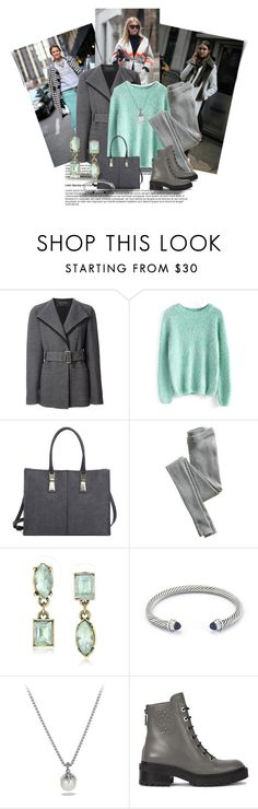 """girls and their coats"" by cnle ❤ liked on Polyvore featuring Calvin Klein Collection, Chicwish, Diesel, Victoria's Secret, Betsey Johnson, David Yurman and Kenzo"
