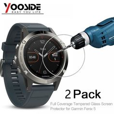 YOOSIDE 2 Pcs Tempered Glass Watch Screen Protector 9H Real Full Coverage Film for Garmin Fenix 5  Price: 9.95 & FREE Shipping  #quadcopter #drone #aerialphotography #FPV Quadcopter Drone, Tempered Glass Screen Protector, Smart Watch, Consumer Electronics, Free Shipping, Film, Movie, Smartwatch, Films